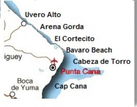map zones punta cana