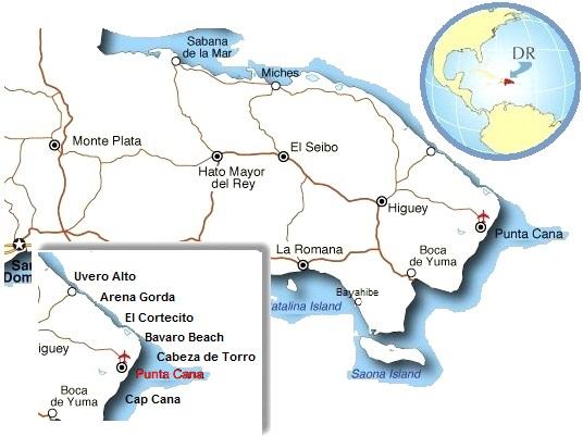 Where Is Punta Cana Punta Cana Map